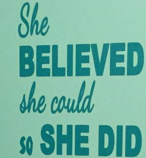 Gymnastics decal, Gymnast decal, Girl's Bedroom quote, She believed she could so she did wall decal