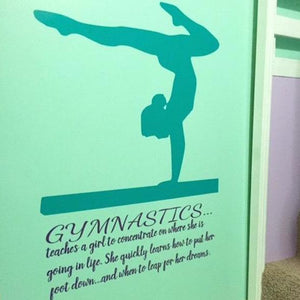 Gymnastics Quote Wall decal - The Artsy Spot