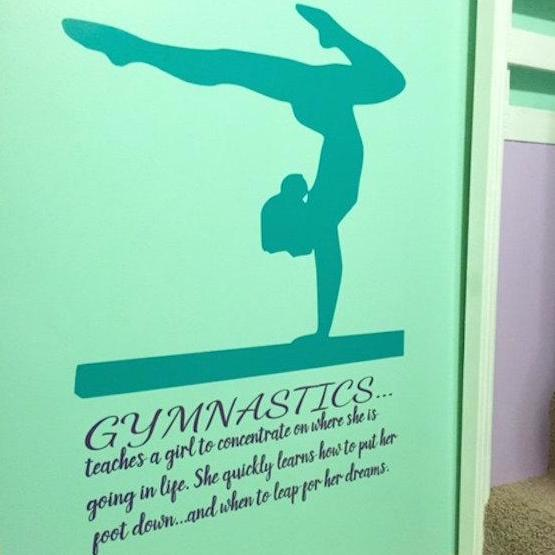 Gymnastics Quote Wall decal