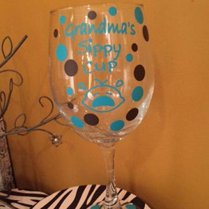 Grandma's Sippy Cup Wine Glass - The Artsy Spot