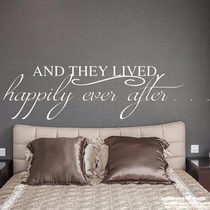 And They Lived Happily Ever After Wall Decal - The Artsy Spot