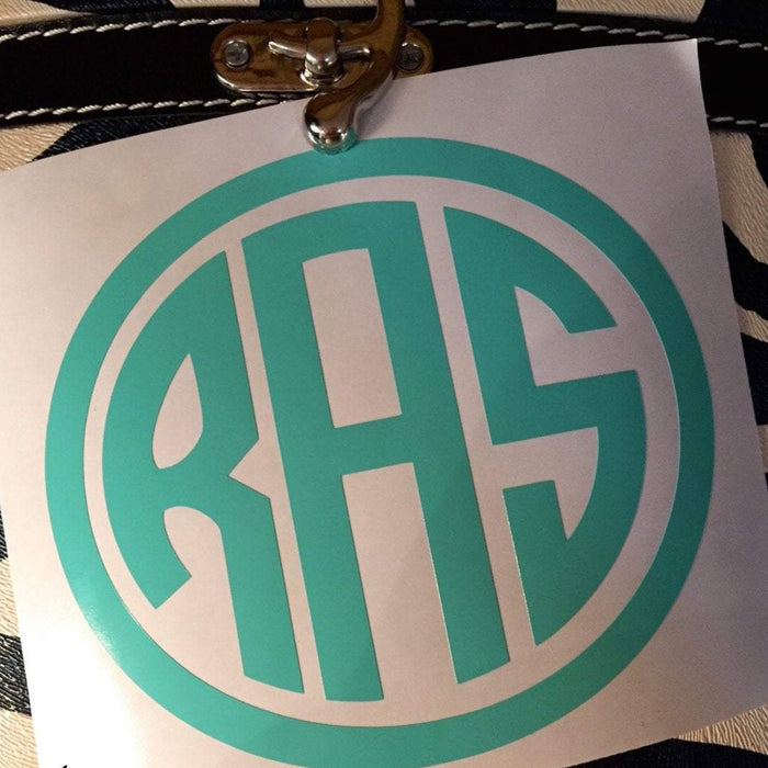 Oval Monogram decal