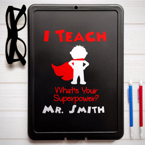 personalized teacher clipboard, teacher gift, funny teacher quote