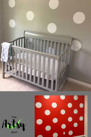 Polka dot decals, minnie mouse room dot decals, Pinterest image