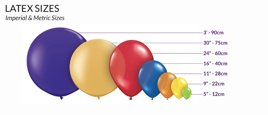 qualatex balloon sizes
