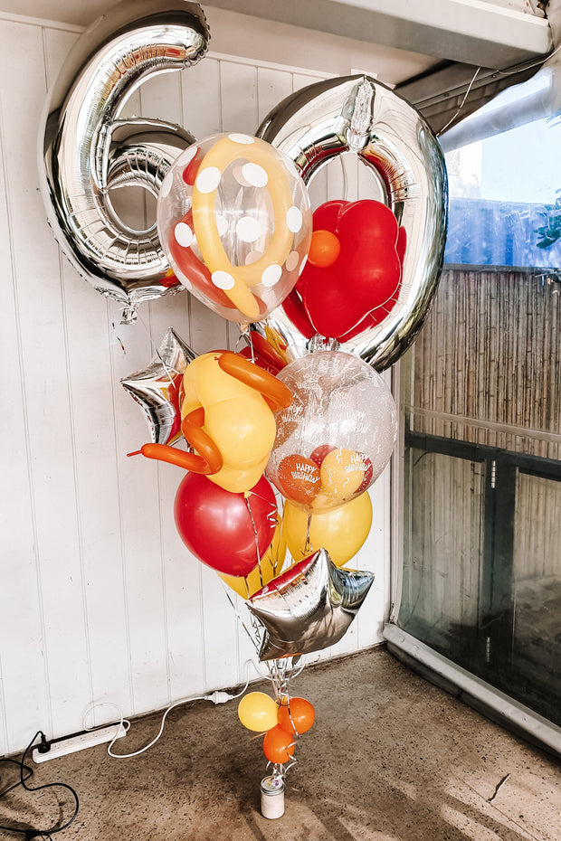 [INFLATED] Crazy Birthday Bouquet - [Bang Bang Balloons Byron Bay]