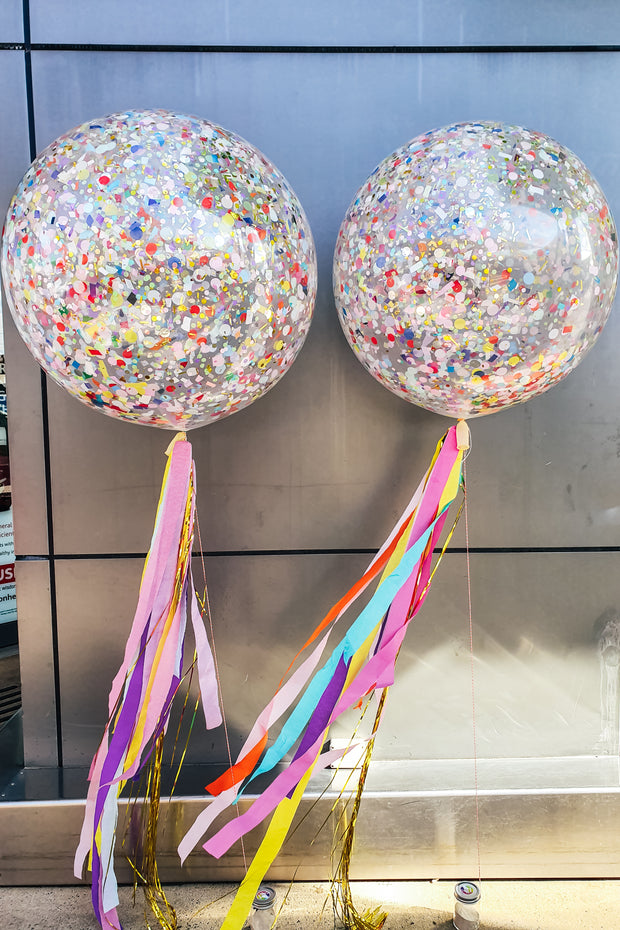 [INFLATED] Giant Confetti Balloon - [Bang Bang Balloons Byron Bay]
