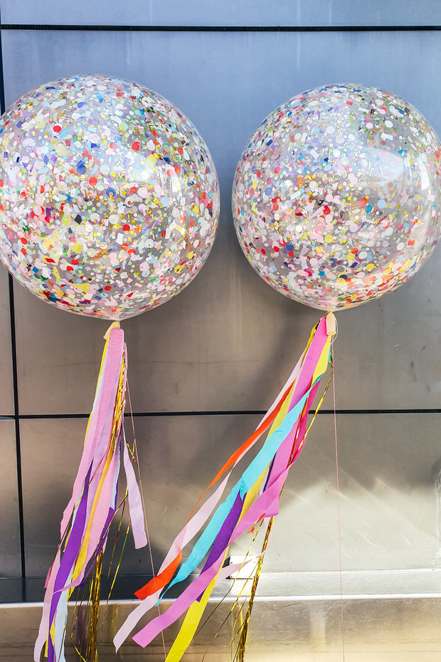 [INFLATED] Giant Confetti Balloon - Corporate Gift - [Bang Bang Balloons Byron Bay]