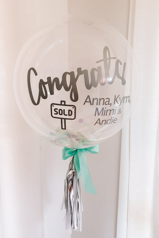 [INFLATED] Deluxe Confetti Bubble - Corporate Gift - [Bang Bang Balloons Byron Bay]