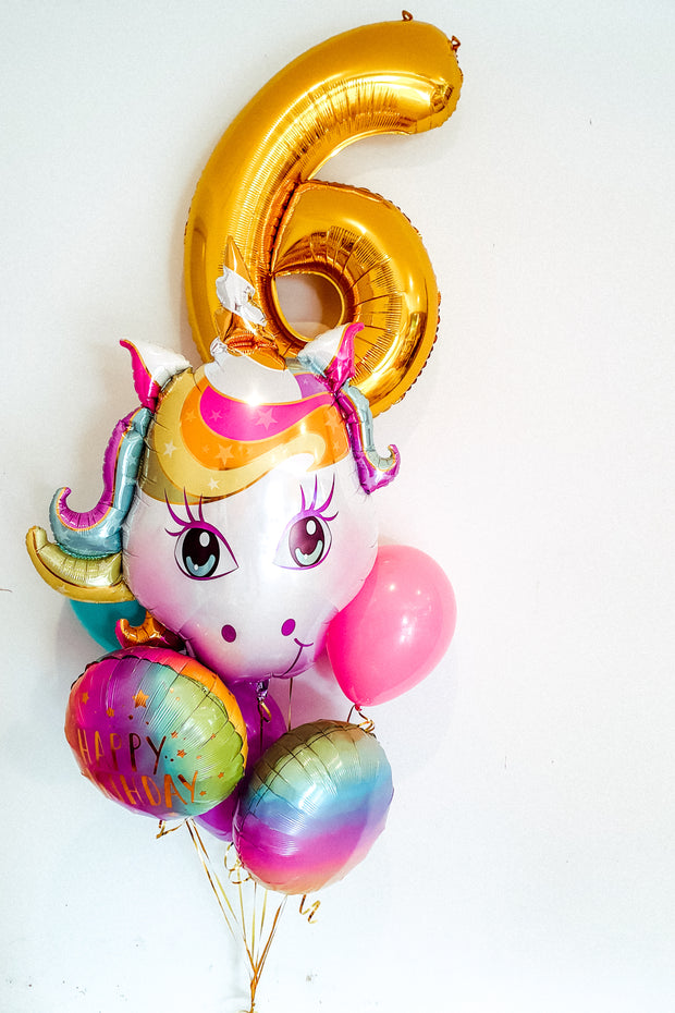 [INFLATED] Unicorn Bouquet - [Bang Bang Balloons Byron Bay]