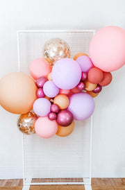 DIY Balloon Garland Kit - Fairyfloss (pink, peach, lilac) - [Bang Bang Balloons Byron Bay]