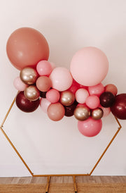 DIY Balloon Garland Kit - Rosie (pink, chrome gold, burgundy) - Bang Bang Balloons