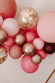 DIY Balloon Garland Kit - Rosie (pink, chrome gold, burgundy) - [Bang Bang Balloons Byron Bay]
