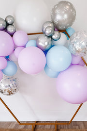 DIY Balloon Garland Kit - Elsa (pastel purple, blue, silver) - [Bang Bang Balloons Byron Bay]