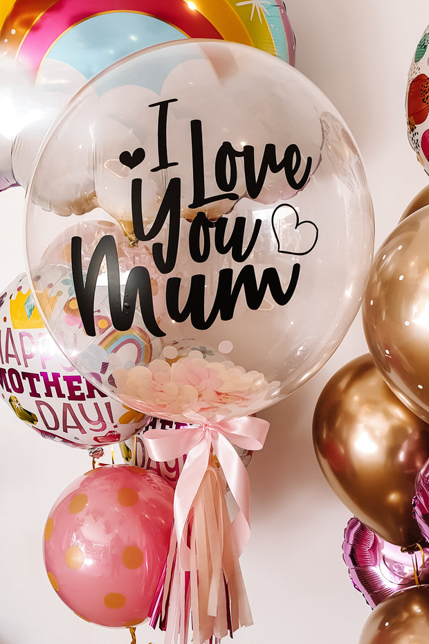[INFLATED] Deluxe Custom Mothers Day Bubble - Bang Bang Balloons