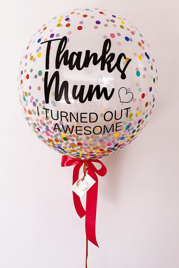 [INFLATED] Custom Bubble - Mothers Day - [Bang Bang Balloons Byron Bay]