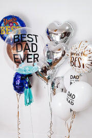 [INFLATED] Mini Father's Day Bouquet | White + Gold