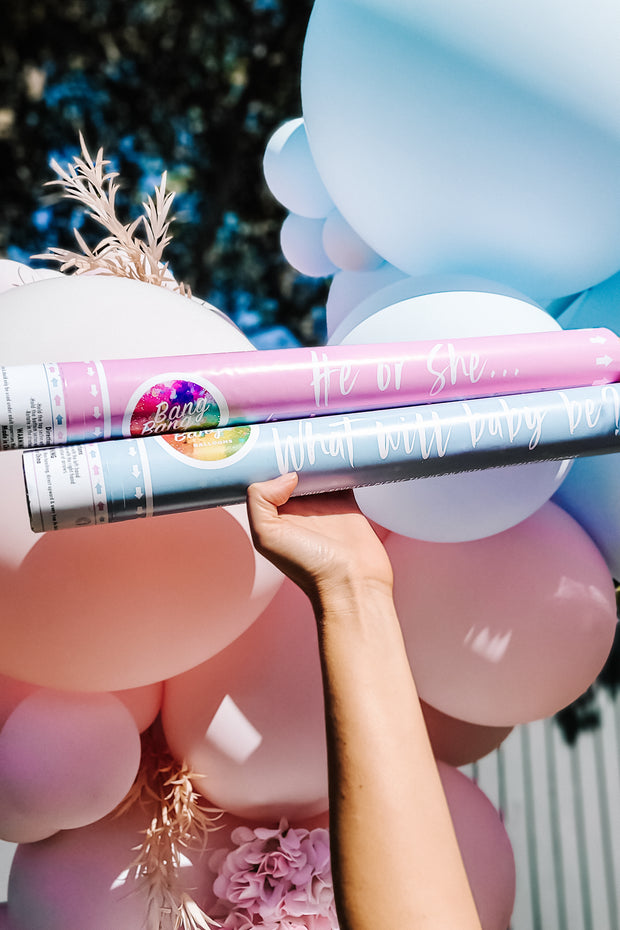 [UNINFLATED] DIY Gender Reveal Balloon Kit + Cannon Combo