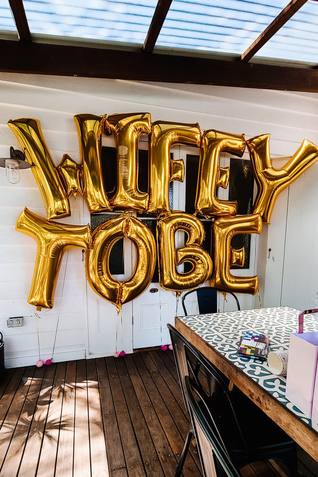 [INFLATED] Wifey/Bride to Be - Bang Bang Balloons