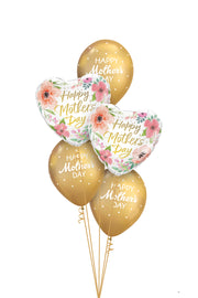 [INFLATED] Mini Mothers Day Bouquet | Gold - [Bang Bang Balloons Byron Bay]