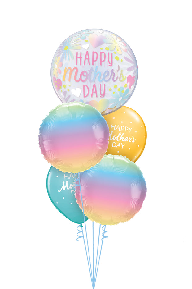 [INFLATED] Pastel Mothers Day Bubble - Bang Bang Balloons