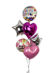 [INFLATED] Foil Birthday Bunch - [Bang Bang Balloons Byron Bay]