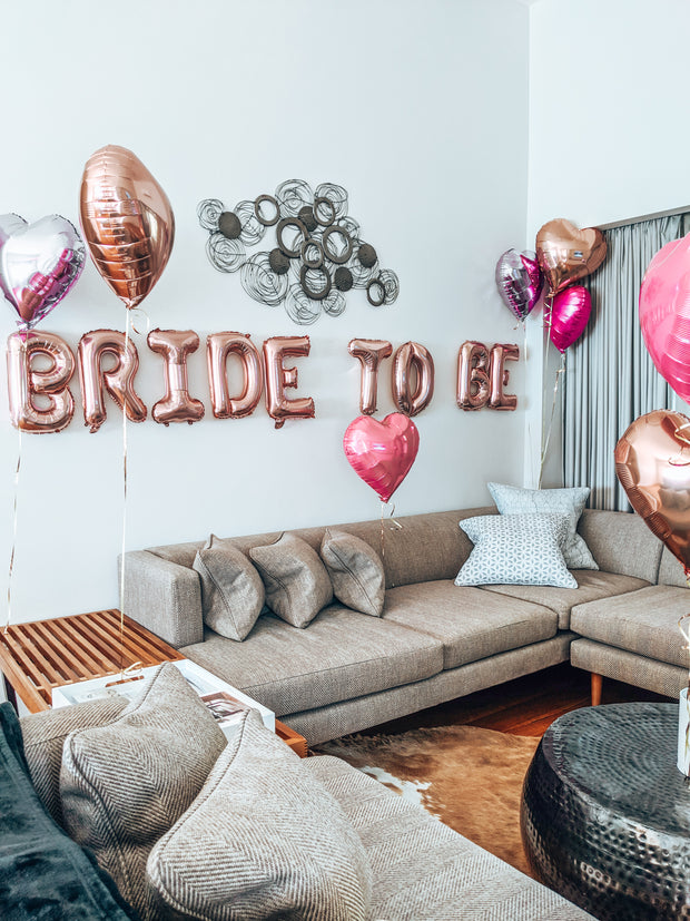 "[INFLATED] Bride to be (16"") bundle - [Bang Bang Balloons Byron Bay]"