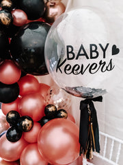 custom clear baby shower balloon