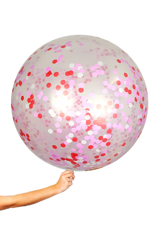 Giant Balloons - Be Mine Confetti - [Bang Bang Balloons Byron Bay]