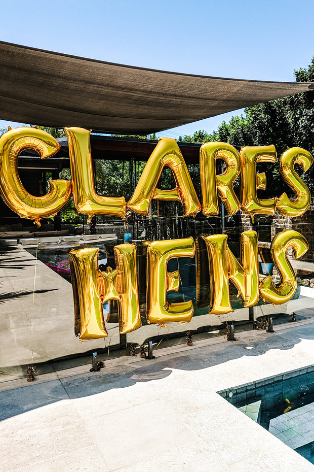 [INFLATED] Custom Giant Letters - Bang Bang Balloons