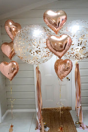 [INFLATED] Confetti Heart Balloon Bundle