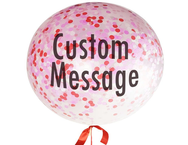 [INFLATED] Personalised Giant Confetti Love Balloon