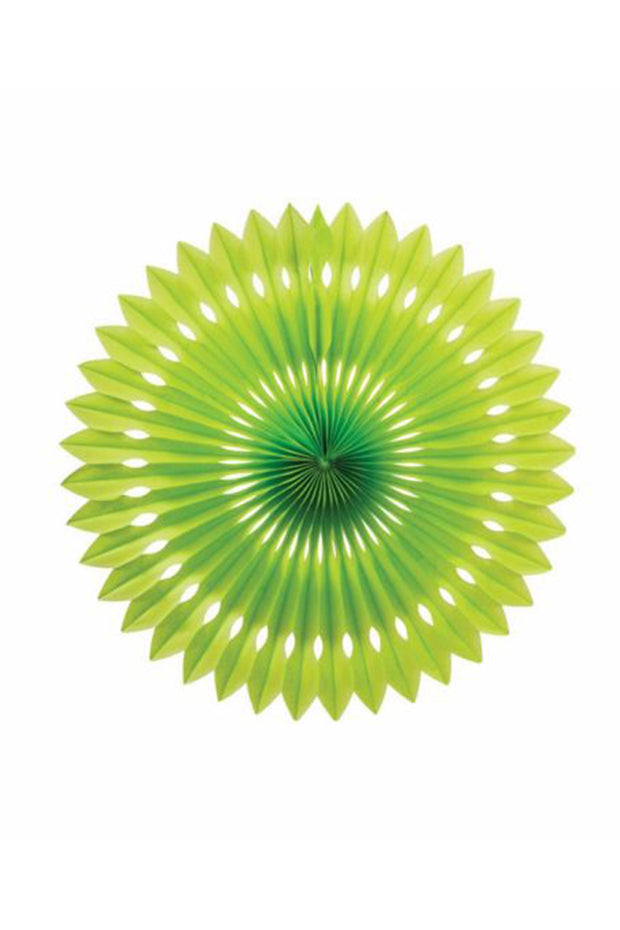 40cm Paper Hanging Fan - Lime - Bang Bang Balloons