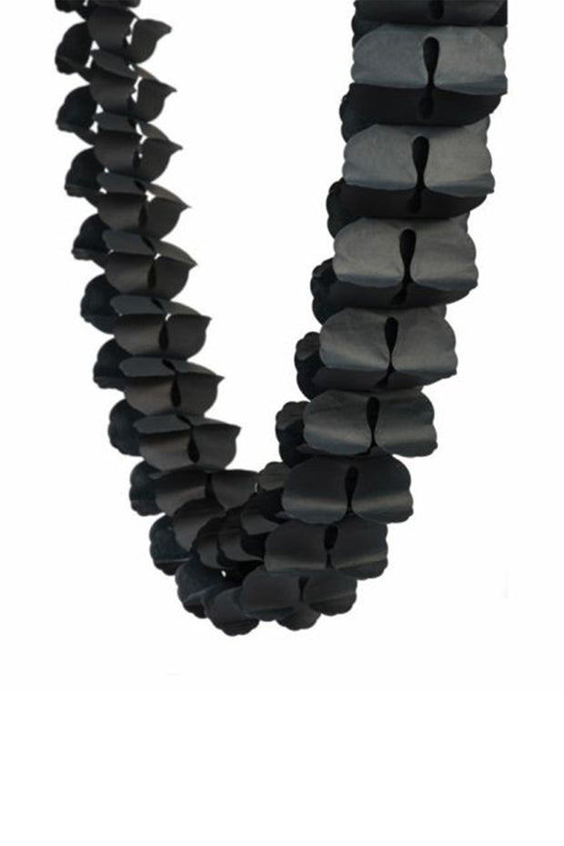 4m Honeycomb Garland - Black - [Bang Bang Balloons Byron Bay]