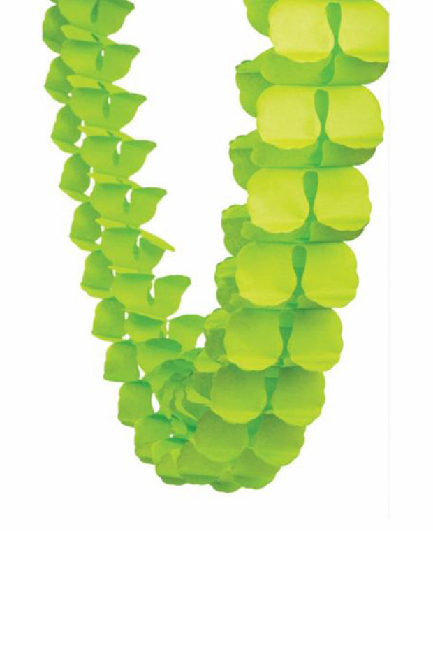 4m Honeycomb Garland - Lime