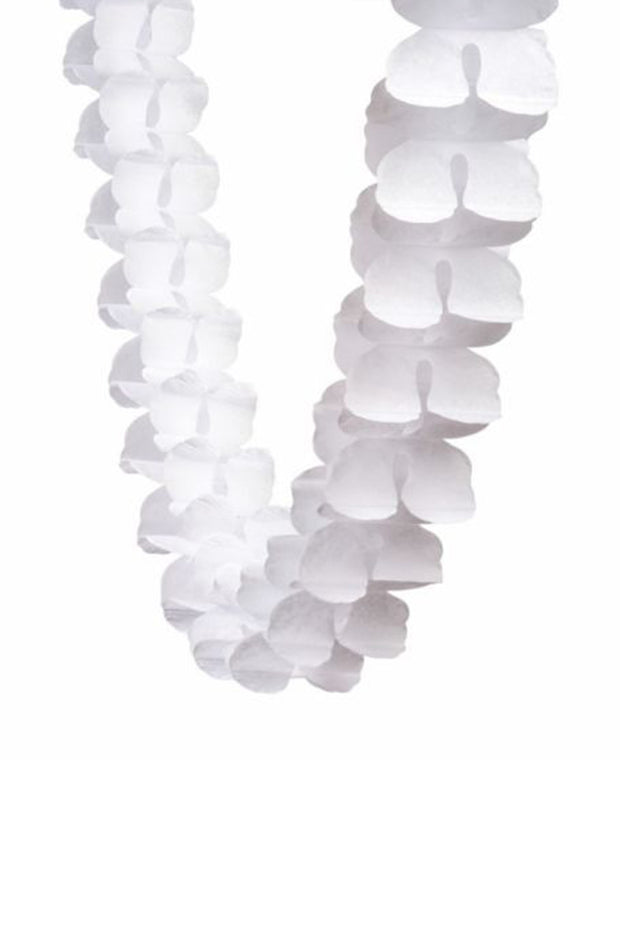 4m Honeycomb Garland - White - [Bang Bang Balloons Byron Bay]