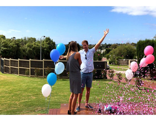 [UNINFLATED] DIY Gender Reveal Balloon Kit - [Bang Bang Balloons Byron Bay]