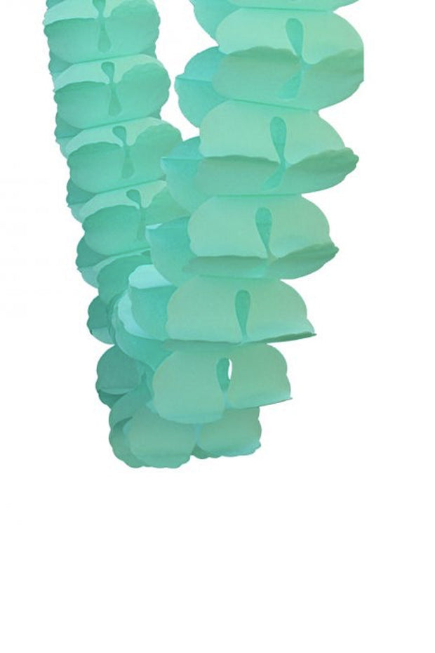 4m Honeycomb Garland - Mint - [Bang Bang Balloons Byron Bay]