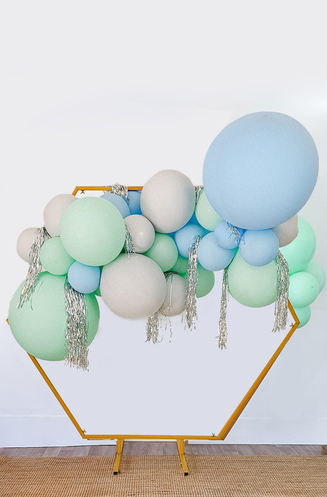 DIY Balloon Garland Kit - Minty (Blue, green, grey) - [Bang Bang Balloons Byron Bay]