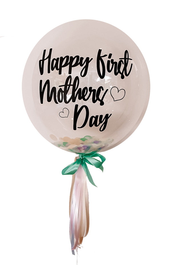 [INFLATED] Deluxe Custom Mothers Day Bubble - [Bang Bang Balloons Byron Bay]