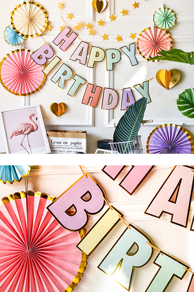 Pastel Happy Birthday Banner