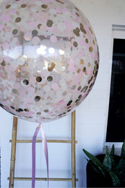 [INFLATED] Personalised Giant Confetti Love Balloon - Bang Bang Balloons