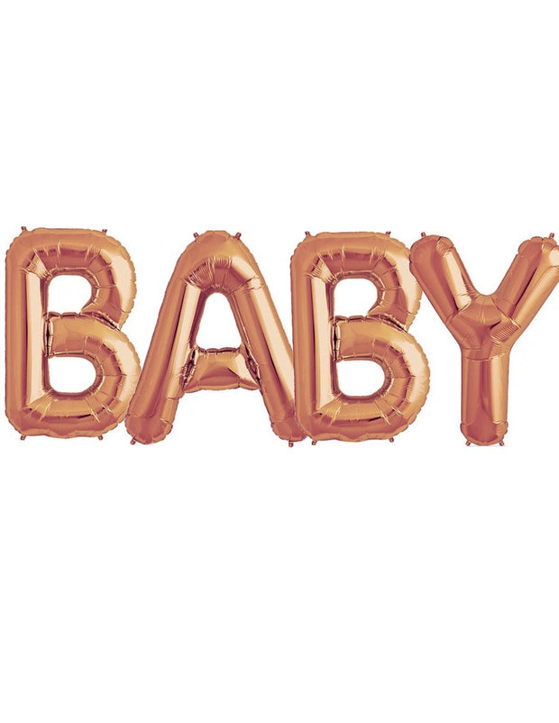 [UNINFLATED] Giant Letters - Baby | Oh baby | Boy | Girl - [Bang Bang Balloons Byron Bay]