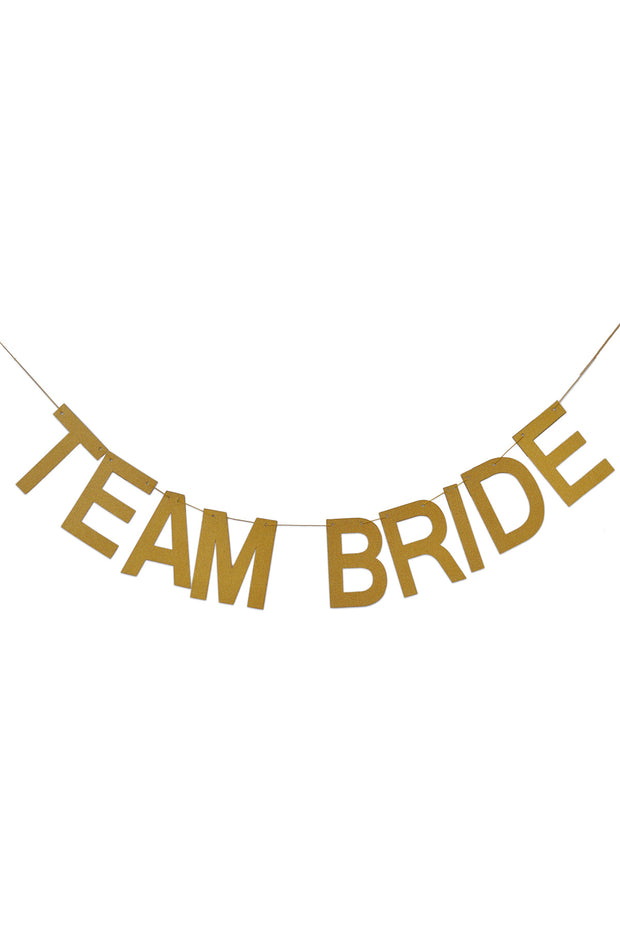 Team Bride Banner - Bang Bang Balloons