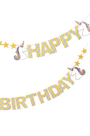 Happy Birthday Unicorn Banner
