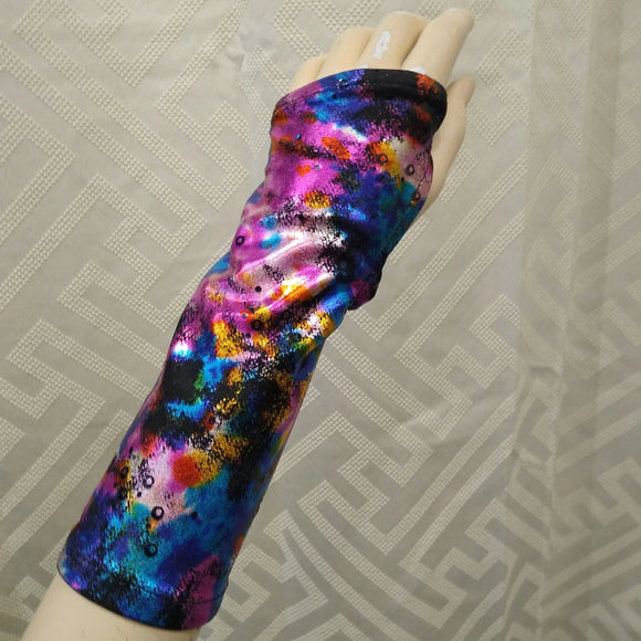The VM Short Sparkly Fingerless Gloves