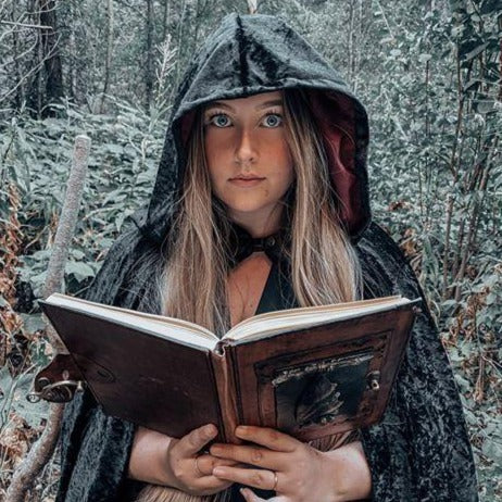 The VM Short Crushed Velvet Cloak-[Canadian]-[Handmade]-[Alternative Fashion]-Venus & Mars Clothing