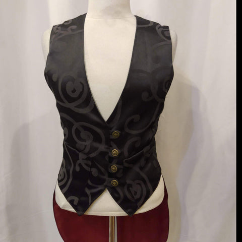 The VM Ladies Waistcoat with Tails-[Canadian]-[Handmade]-[Alternative Fashion]-Venus & Mars Clothing