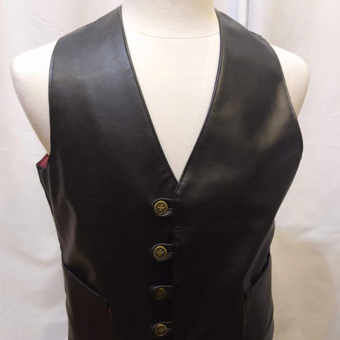 The VM Short Waistcoat-[Canadian]-[Handmade]-[Alternative Fashion]-Venus & Mars Clothing