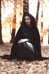The VM Velvet Lined Cloak-[Canadian]-[Handmade]-[Alternative Fashion]-Venus & Mars Clothing